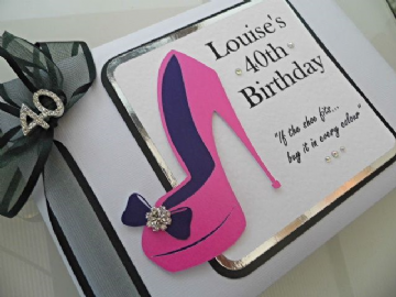 40th Birthday Party Guest Book - Stiletto Shoe